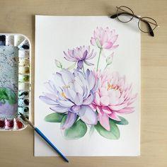 Watercolorist: @poli.bright.art  #waterblog #акварель #aquarelle #painting #drawing #art #artist #artwork #painting #illustration #watercolor #aquarela