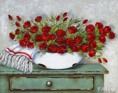23 Ideas Flowers Ilustrations Acrilic For 2019 Easy Paintings, Beautiful Paintings, Flower Vases, Flower Art, Painting & Drawing, Watercolor Paintings, Stella Art, Paint Photography, Arte Popular