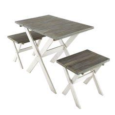Table Basse de salon ou de jardin en bois brut Riviera | Table ...