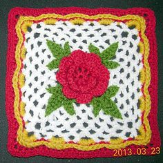 Irish Rose square by Priscilla Hewitt Free pattern download on ravelry http://www.ravelry.com/patterns/library/irish-rose-square-3