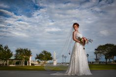 Dress by Audrey - Vibrant Bridal Bouquet by Union Bloom Floral Weddings - Peach Inspiration Shoot at the Porcher House in Cocoa, FL - Photo by Imani J Portraits - click pin for more - www.orangeblossombride.com