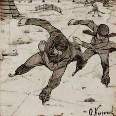 Skating Pictures, Ice Skating, Skate, Vintage, Art, Art Background, Kunst, Skating, Vintage Comics