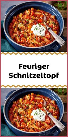 Feuriger Schnitzeltopf Ingredients 400 g potatoes 2 red peppers 150 g onions 2 cloves of garlic 2 hot chili peppers 100 g streaky smoked bacon 3 pork schnitzel g each) 2 tablespoons tomato paste Pork Schnitzel, Pork Cutlets, Roast Beef Sandwiches, Meat Sandwich, Spicy Chili, Tomato Vegetable, Smoked Bacon, Stuffed Hot Peppers, Pork Recipes