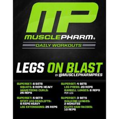 #MP Workout of the Day! Legs on Blast by @MusclePharmPres  Powered by #Assault!  Tag someone that skips leg day!