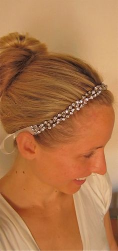 Braided Crystal Wedding Headband