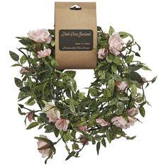 Buy Pink Rose Garland | Artificial Plants | The Range