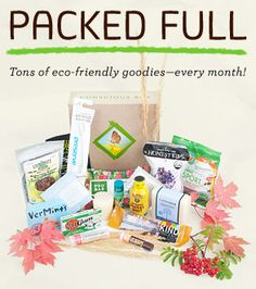 Conscious box - green and sustainable products in a monthly box... like Birchbox (but better!)