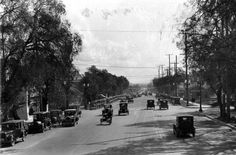 This is Vine Street at Sunset in1925, with the Famous Players Lasky Studio to the left. (USC)