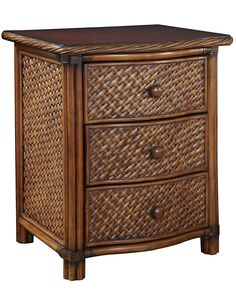 Home Styles Marco Island Cinnamon Mahogany Nightstand at Lowe's. Marco Island Night Stand by Home Styles is island inspired displaying a rich blend of materials including natural rattan woven wicker, mahogany solids, Wicker Headboard, Wicker Bedroom, Wicker Sofa, Wicker Furniture, Bedroom Furniture, Wicker Trunk, Furniture Storage, Full Headboard, Wicker Table
