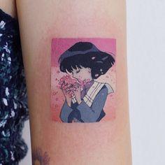 Pretty Tattoos, Cute Tattoos, Beautiful Tattoos, Body Art Tattoos, Tattoos For Guys, Tattoos For Women, Tatoos, Otaku Anime, Saturn Tattoo