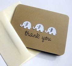 Baby Shower Thank You Cards Blue Dot by SignatureExpressions on Etsy