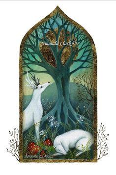 A fairytale art print . 'The Den' by Amanda por earthangelsarts