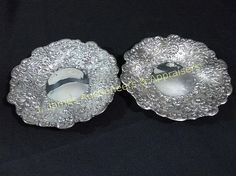 Tiffany & Co. Sterling Silver Repousse Plates (2)