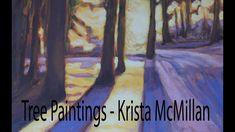 Tree/Sunset Painting - Pinterest
