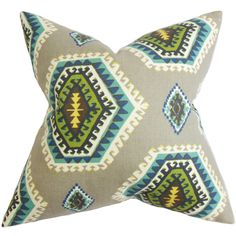 Lorne Geometric Cotton Throw Pillow