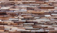 Timber wall by Wonde