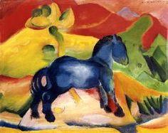 Franz Marc - Little Blue Horse