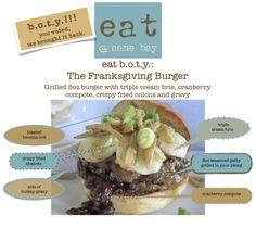 The burger of the year. Fried Shallots, Fried Onions, Turkey Gravy, Grilling, Toast, Beef, Memories, Food, Essen