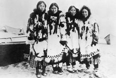Inupiat girls near Nome, Alaska - 1903 — with Wayne Drake