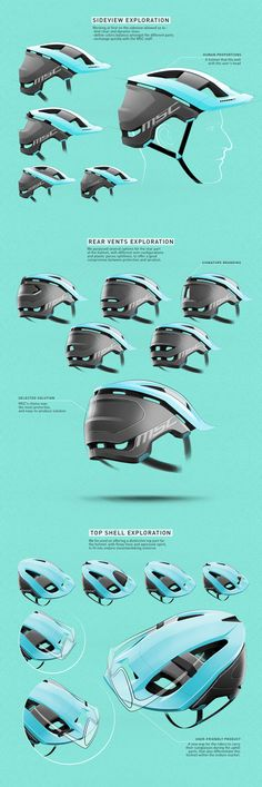 Design a cost effective MTB helmet for demanding enduro riders. Industrial Design Portfolio, Industrial Design Sketch, Portfolio Design, Photoshop Rendering, Conceptual Drawing, Presentation Layout, Helmet Design, Sketch Design, Web Design