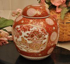Japanese Imari Porcelain Ginger Jar - Circa 1950s
