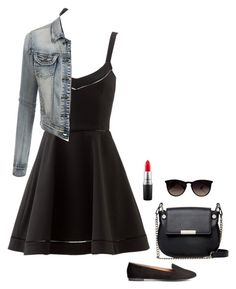 """Untitled #129"" by emmaruus on Polyvore featuring Elizabeth and James, LE3NO, H&M, French Connection, Ray-Ban and MAC Cosmetics"