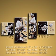 Decorate your home or office with our handmade art paintings of Tulip Flowers in Contemporary style. Why settle for a print, poster, giclee or canvas transfer when you can enhance your walls with this genuine oil painting on canvas at up to below gall Modern Canvas Art, Contemporary Wall Art, Modern Wall Decor, Wall Art Decor, White Wall Art, Large Wall Art, Panel Wall Art, Canvas Wall Art, Ebay Paintings