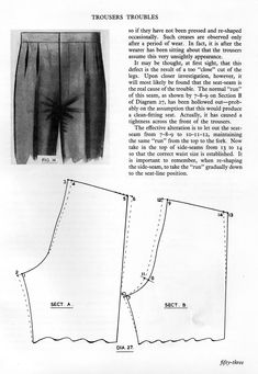 Fitting Trousers - posted in The Trouser and Waistcoat Forum: This comes from an earlier book by Ruben Styner, revised by Phillip Dellafera, both of the Tailor and Cutter Academy.