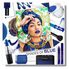 """Shades of Blue"" by chocolate-addicted-angel ❤ liked on Polyvore featuring beauty, Lipstick Queen, Lime Crime, MAC Cosmetics, By Terry, NARS Cosmetics, Estée Lauder, Bobbi Brown Cosmetics and Essie"