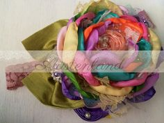 Colorful spring headband by Austenland  https://www.etsy.com/shop/Austenland