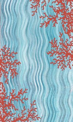 Liora Manne Coral Reef Water Area Rug...would Be A Cool Wall Design
