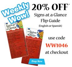 20% off Signs at a Glance Flip Guides* with code WW1046 at checkout. Good through 7/23.