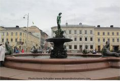 """""""Sculpture of a Woman"""" Fountain Helsinki Finland 2014 Helsinki, Finland, Statue Of Liberty, Sweden, Fountain, Sculpture, Woman, History, Country"""