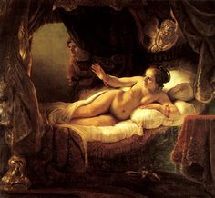Danae. Danahé. Rembrandt. 1636-1643. Oil on canvas. 185 X 202.5 cm. Hermitage Museum. St Petersburg.
