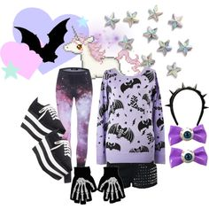 A spooky winter by twisted-candy on Polyvore featuring Glamorous, Jeffrey Campbell, Kreepsville 666, Givenchy, spooky, creepy, kawaii and cute