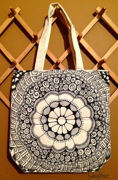 Saidfraz tangle totebag Great use of circular design with good balance of blank and filled in space.