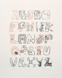 Animals typography    I can't get over how amazingly cute this is