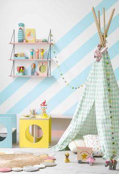 color block room love