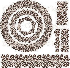 Classic Floral Damask Stencil MULTIPLE SIZES AVAILABLE on Durable Industry Standard 7 Mil Mylar Design 115617649