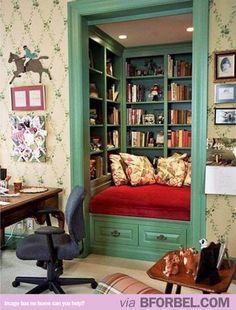 A Closet turned into a BOOK CORNER