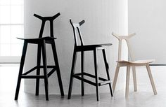 Scandinavian design bar chair NARA by Shin Azumi