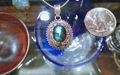 Labradorite, Stone of Positivity Pendant Necklace