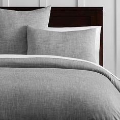 Organic Solid Texture Duvet Cover + Sham #pbteen