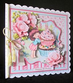 DO I SEE CAKE 8x8 Decoupage Mini Kit on Craftsuprint designed by Janet Briggs - made by Cynthia Massey