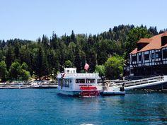 The Queen on Lake Arrowhead in Southern California. Enjoy hourly cruises around Lake Arrowhead. Lake Arrowhead California, California Dreamin', San Bernardino Mountains, San Bernardino County, Tudor House, Unusual Things, Cruises, Traveling, Queen
