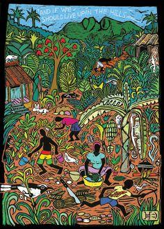 Reggae Art, Reggae Style, Reggae Music, Art Rasta, Graphic Design Illustration, Illustration Art, Reggae Concerts, Jamaican Art, Reggae Festival