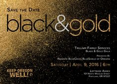 """Hey friends!  Please save Saturday, April 9th in your calendars so you can join me at Trillium's """"Black & Gold"""" Gala, hosted by Sheila Hamilton!  We will be celebrating the efforts of this year's #KeepOregonWell Mental Health Heroes, the good work of Trillium across the state, and more.  Tickets and Tables on sale now at www.trilliumfamily.org/support-trillium/blackandgold   #MentalHealthMatters"""