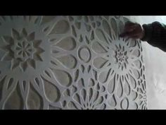 Гипсовый рельеф , картины . Wall sculpture. - YouTube -- idea for a project, clay and zentangle