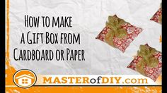Gift box DIY - Easy recipe to make nice gift box from paper Diy Gift Box, Make A Gift, Diy Box, Diy Gifts, Best Gifts, Diy Home Crafts, Easy Crafts, Easy Diy, Pretty Box