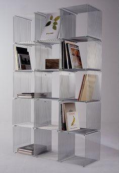 Trådreol | Wire Shelf designed by Verner Panton #Denmark #grid